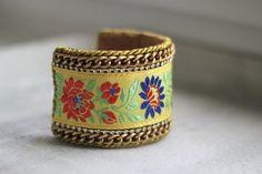 Hey, I found this really awesome Etsy listing at https://www.etsy.com/listing/184949697/yellow-folk-bracelet-slavic-folk-cuff