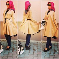 Love the hijab and especially the wedges. :)