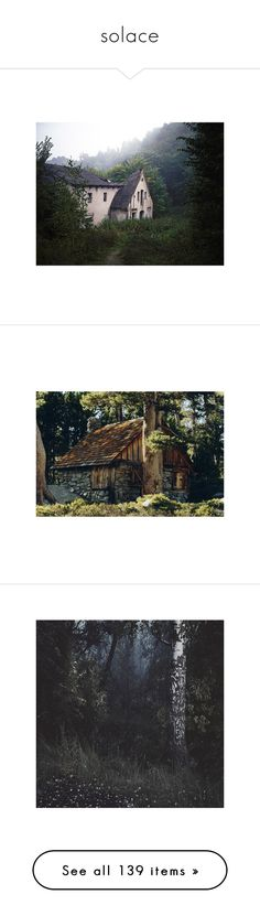 """solace"" by antumnos ❤ liked on Polyvore featuring pictures, photos, backgrounds, buildings, places, filler, snow white, images, nature and forest"