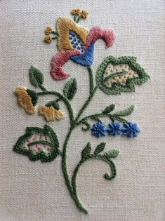Jacobean Crewel Work - Coleshill Collection Starter kit - Stitched 2003