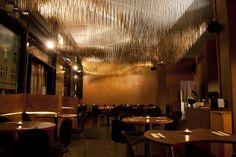 Hashi Mori in Berlin - bamboo stick ceiling interior design