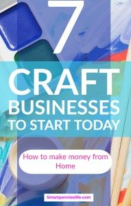 7 Craft Business Ideas To Makes Money Financial Pinterest