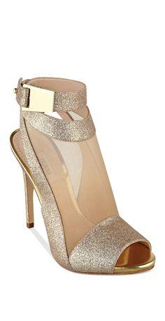 Glitter mesh heels | #sponsored