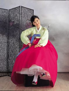"#Hanbok #Korea : Hanbok (한복: South Korea) or Chosŏn-ot (조선옷: North Korea) is the traditional Korean dress. It is often characterized by vibrant colors and simple lines without pockets. Although the term literally means ""Korean clothing"", hanbok today often refers specifically to hanbok of Joseon Dynasty and is worn as semi-formal or formal wear during traditional festivals and celebrations."