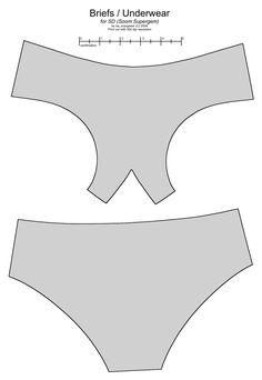 SD BJD (Soom Supergem) underwear by scargeear.deviantart.com on @deviantART