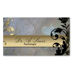 Psychologist and Psychiatrist Business Card - Floral. I love this design! It is available for customization or ready to buy as is. All you need is to add your business info to this template then place the order. It will ship within 24 hours. Just click the image to make your own!