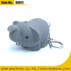 Elephant LED Light Up Keyring with Sound Effect  3e45f34d0