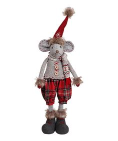 Loving this Plaid Boy Mouse Figurine on #zulily! #zulilyfinds