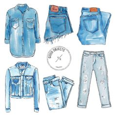 valeriarienzi:  Good objects - Shades of denim #denim #jeans #goodobjects