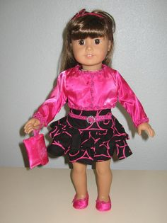 AMERICAN GIRL Doll Dress and Jacket Plus  shoes by girlydezines, $23.00