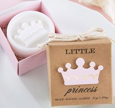 Give your guests these fun Little Princess Soap favor as a thank you baby shower favor.