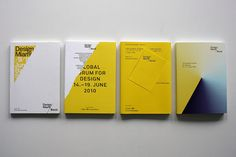 Exhibition catalogues for Design Miami Basel 2009, 2010, 2011, 2012 by Madethought by bcmng