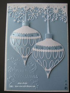 G3 Christmas die cut 7 x Christmas candles snow globe cardtoppers