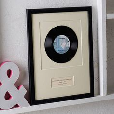 Have that special song from your past immortalised by these wonderfully framed 7 inch vinyl records. Perfect for the music lover in your life.The frames are available in a choice of black, silver or solid oak and ready to hang with acrylic (not glass). All mount boards (around and behind) are a subtle cream with a slight texture (papyrus). A4 frames can also be free standing. For any reason, any occasion, any title, any artist, any colour, label or year we will do our best to find it and ...