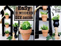 Diy Planters, Planter Pots, Kirkland Home Decor, Dollar Tree Decor, Painted Sticks, Dollar Store Crafts, Decorating Tips, Farmhouse Decor, Diys