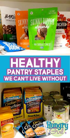 21 Healthy Pantry Staples We Can't Live Without – Food: Veggie tables Low Calorie Snacks, Low Calorie Recipes, Healthy Snacks, Healthy Recipes, Food Network, Healthy Groceries, Healthy Shopping, Hungry Girl Recipes, Recipe Builder