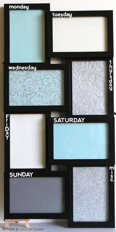 Awesome!  Ronda Palazzari Picture Frame Dry Erase