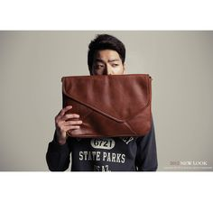 oversized clutch for men, but I want one too. // dholicmens
