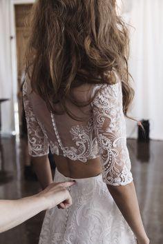 RIME ARODAKY BRIDAL FALL 2017 / Backstage / Wedding Style Inspiration / LANE