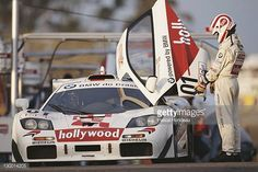 Nelson Piquet of Brazil prepares to drive the Hollywood McLaren F1 GTR during the BPR Global GT Endurance Series 2 Hours of Curitiba race on 8th...