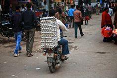 Rickshaw ride to Ganges River, Varanasi, India
