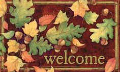 Leaves Falling Autumn Welcome Indoor Outdoor Doormat by Magnet Works. $19.99. Artist: Susan Winget. Weatherproof for Outdoor Use. Welcome mat size: 18 Inches x 30 Inches. Non-Slip Recycled Rubber Backing. Optional 24 Inchs x 36 Inchs Decorative Tray (Sold Separately). PLEASE NOTE YOU ARE PURCHASING THE DOORMAT ONLY. THE PICTURE SHOWS THE DOORMAT PLACED IN THE DESIGNER DOORMAT FRAME WHICH IS SOLD SEPARATELY IN OUR STORE. THE DOORMAT CAN BE USED WITHOUT DOORMAT FRA...