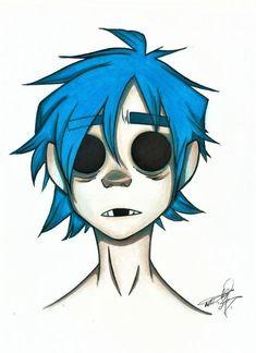 Creepy Drawings, Cool Drawings, Desenhos Halloween, Character Art, Character Design, Gorillaz Art, Arte Sketchbook, Hippie Art, Art Drawings Sketches