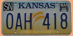 US-Nummernschild Kansas - original - Hausnummern und Schilder online kaufen