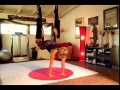 DAY 14: Handstand    Aerial Yoga Play Swing Challenge - YouTube