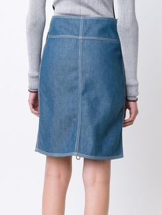 Edun джинсовая юбка с накладными карманами