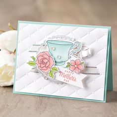 Stampin Up - Tea Together - Retiring - Post By Demonstrator Brandy Cox Mothersday Cards, Tea Riffic, Cards For Friends, Friend Cards, Retirement Cards, Stamping Up Cards, Scrapbook Cards, Scrapbooking, Card Tags