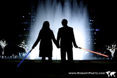 Engagement session with light sabers.this is so going to happen Cute Wedding Ideas, Wedding Pictures, Wedding Stuff, Wedding Things, Disney Engagement Pictures, Engagement Photo Poses, Star Wars Wedding, Photo Boards, Save The Date Invitations