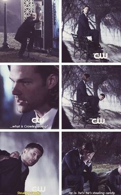 ...what is Crowley doing? #spn