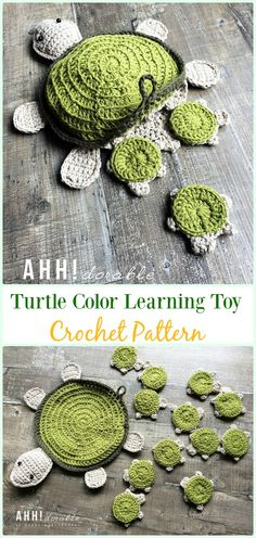 Crochet Amigurumi Turtle Color Learning Toy Paid Pattern-#Crochet; #Turtle; Amigurumi Toy Softies Free Patterns