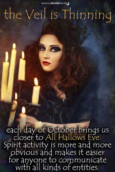 The Veil is Thinning as we approach All Hallows Eve Wicca Witchcraft, Pagan Witch, Wiccan, Magick, Witches, Witch Quotes, Samhain Halloween, Halloween Crafts, Season Of The Witch