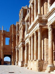 Theatre, Sabratha, Libya. | Flickr - Photo Sharing! Persian Architecture, Roman Architecture, Ancient Ruins, Ancient Rome, Ancient History, Roman Theatre, Classical Antiquity, World Heritage Sites, Ancient Civilizations
