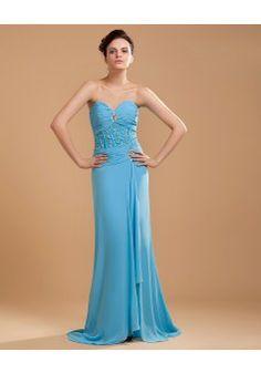 By Alexandra Dallaire Sheath/Column Sweetheart Sleeveless Tea-length Chiffon 2013 Prom Dress #BUKCH387 - See more at: http://www.anniedress.com/prom-dresses.html?p=9#sthash.FZ9IgfRk.dpuf