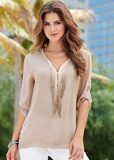 But really, can you ever go wrong with fringe? :) Venus fringe blouse.