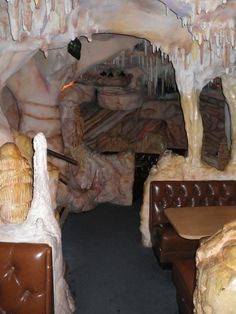 Casa Bonita: A view of the caverns dining area, which features the glowing eyes of bats in the dark recesses. What a place to eat, right? Denver Colorado, Lakewood Colorado, Living In Colorado, Colorado Springs, Denver Travel, Staycation, Caves, Hot Springs, Places To Eat