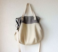 Aurelie Hobo Bag with Folded Top  and  Zipper Closure  by iragrant, $120.00