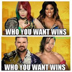 Who you want wins Tonight   #wwe #wweraw #wwelife #wwelive #wwememes #wwefunny #wrestling #wwenetwork #wwenxt #tna #nxt #memes #funny #like4like #likeforlike #gta #ps4 #xboxone #xbox #wwefan #myfan #nba #nfl #nhl #nascar #girls #mygirls #wwedivas