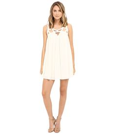 Brigitte Bailey Clementina Strappy Tunic Dress Vanilla - 6pm.com