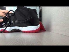 perfect Air Jordan 11 (XI) Retro Black / Varsity Red -- White *rephype*
