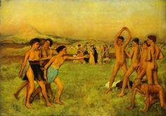 Mujeres espartanas ejercitándose con los hombres, cuadro de Edgar Degas
