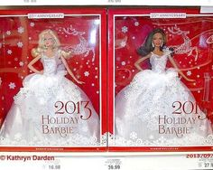 2013 Holiday Barbie Doll celebrates 25 years of Christmas Barbies (Video)