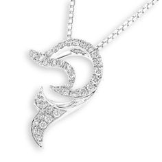 IAD  18K/750 White Gold Jumping Dolphin with by IADJewellery, $767.00