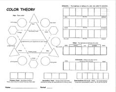 Color Theory Lessons | Special thanks to Ted Mallory one of my Art/PLC buddies for this!