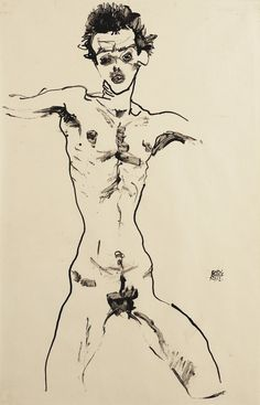Nude men in leopold museum vienna at