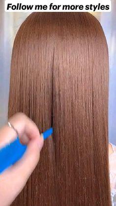 Hairdo For Long Hair, Easy Hairstyles For Long Hair, Pretty Hairstyles, Girl Hairstyles, School Hairstyles, Hairdos, Hair Up Styles, Natural Hair Styles, Hair Videos
