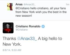 He also noticed me this year on twitter on august 8th.
